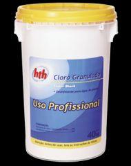Cloro Microgranulado - Linha Profissional Tambor 40 Kg - HTH