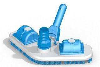 Aspirador Plástico Asa Delta com Escova 1,685 Kg Branco e Azul Único - Sodramar
