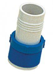 Adaptador para Mangueira Luva Plástica 1 1/2 Pol. Azul e Branco Único - Sodramar