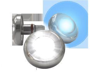 Refletor Power LED 9 W RGB p/ tubo 25 mm ( Inox ) Cabo 5 metros - Tholz